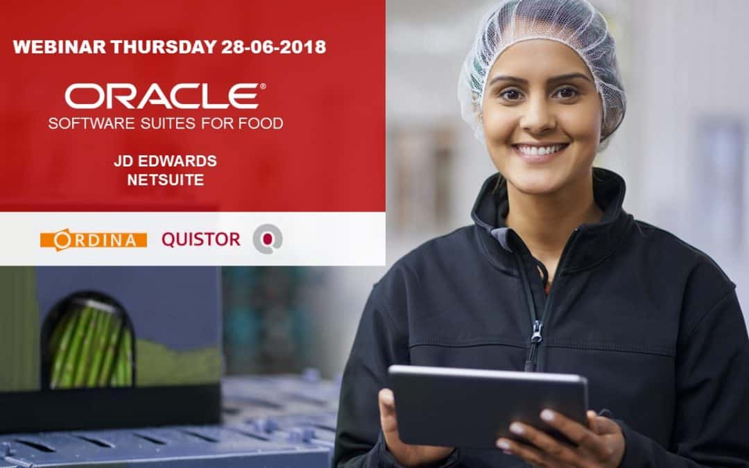 Oracle for food webinar 28 juni