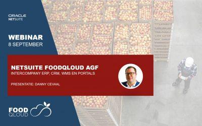 Webinar Netsuite FoodQloud AGF op 8 september
