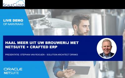 Vraag uw persoonlijke NetSuite + Crafted ERP demo aan